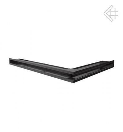 Вентиляционная решетка для камина Kratki Люфт угловая левая графит 60 LUFT/NL/60/G