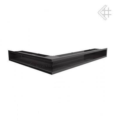 Вентиляционная решетка для камина Kratki Люфт угловая правая черная 90 LUFT/NP/90/C