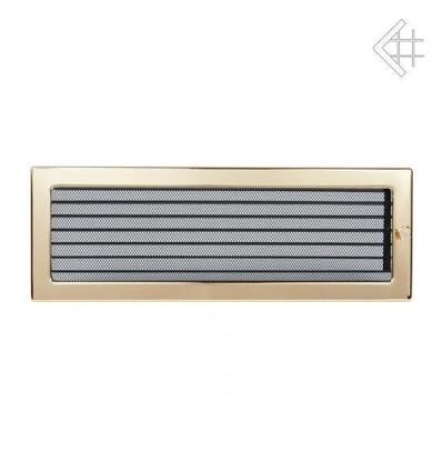Вентиляционная решетка для камина Kratki 17х49 полированная латунь с жалюзи 49ZX