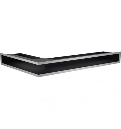 Вентиляционная решетка для камина Kratki Люфт угловая правая стальная 9*40 LUFT/NP/9/40/45S/SZ