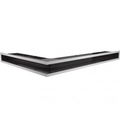 Вентиляционная решетка для камина Kratki Люфт угловая правая стальная 90 LUFT/NP/90/45S/SZ