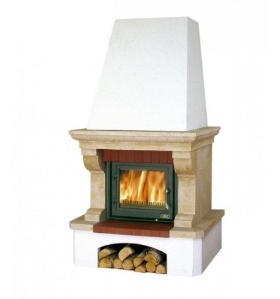 Готовый дровяной комплект ABX Oxford Klasik, белый цоколь BP