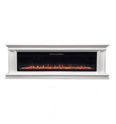 Линейный электрокамин Royal Flame Geneva 60 с очагом Vision 60 (Белый)