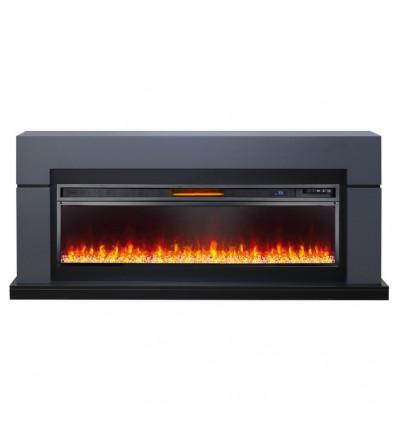 Линейный электрокамин Royal Flame Lindos Graphite Grey с очагом Vision 60 (Серый графит)