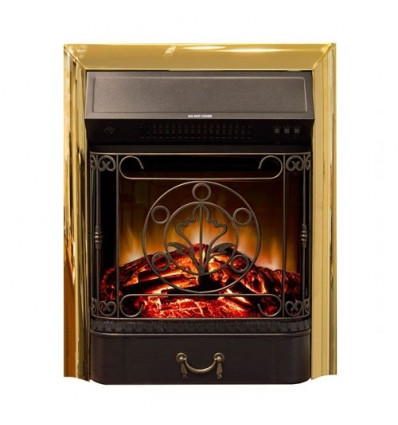 Классический очаг 2D Real-Flame Majestic Lux Brass