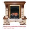 Угловой классический портал Royal Flame Pierre Luxe угл. Сланец под классический очаг (Темный дуб)
