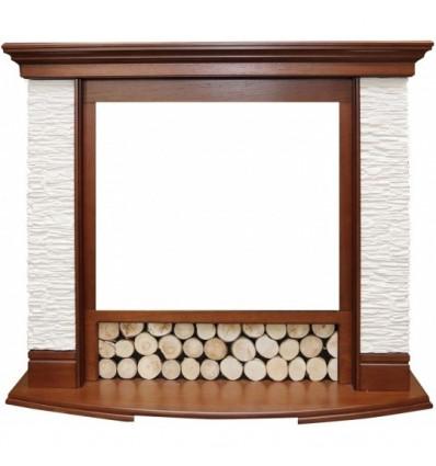 Широкий портал Royal Flame Country сланец мелкий белый под очаг Dioramic 28 LED FX