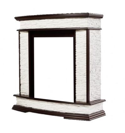 Классический портал для камина Electrolux Scala Classic сланец скалистый Белый/Тёмный дуб