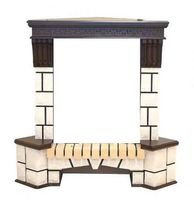 Угловой классический портал Real-Flame Stone Corner new STD/EUG/VL