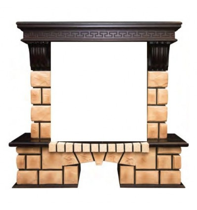 Широкий портал Real-Flame Stone Brick 25/25,5