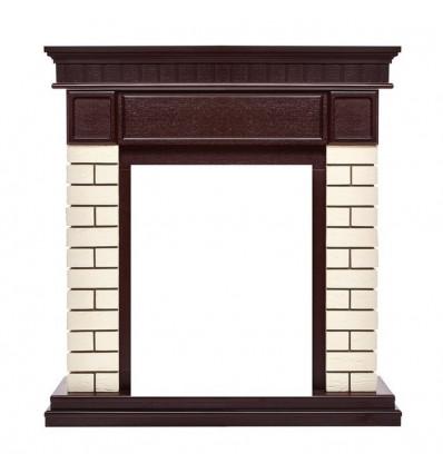 Классический портал для камина Electrolux Bricks Classic кирпич Бежевый/шпон Тёмный дуб