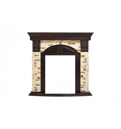 Классический портал для камина Electrolux Torre Classic Сланец натуральный/Венге