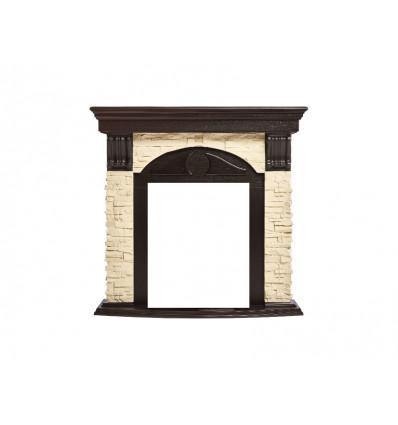 Классический портал для камина Electrolux Torre Classic Cлоновая кость/венге