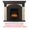 Классический портал для камина Electrolux Torre Classic Слоновая кость/Тёмный дуб