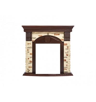 Классический портал для камина Electrolux Torre Classic Сланец натуральный/Темный дуб