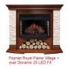 Широкий портал Royal Flame Village сланец бежевый под очаг Dioramic 25FX