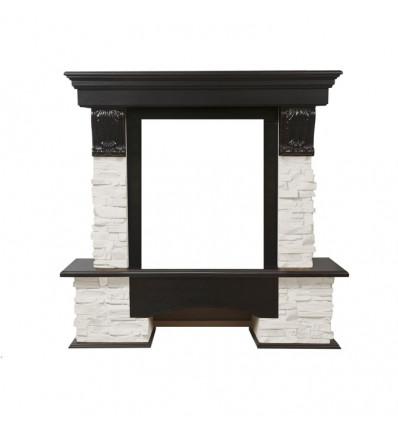 Классический портал для камина Electrolux Pietra Classic белый/тёмный дуб
