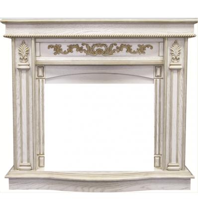 Широкий портал Royal Flame Cardinal под очаг Dioramic 25 LED FX White Oak