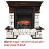 Угловой классический портал Royal Flame Pierre Luxe угл. под классический очаг (Темный дуб)