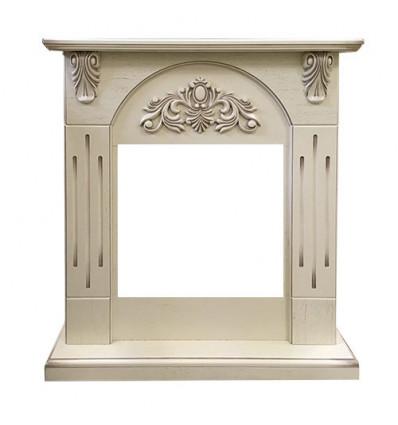 Классический портал для камина Royal Flame Chester Wood под очаг Vision 18 LED FX Алебастр темная патина