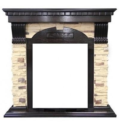 Классический портал для камина Royal Flame Dublin арочный сланец/сланец белый под классический очаг