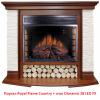 Широкий портал Royal Flame Country сланец мелкий белый под очаг Jupiter FX