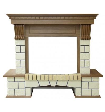 Классический портал для камина Royal Flame Pierre Luxe под классический очаг (Дуб)