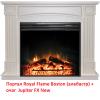 Широкий портал Royal Flame Boston под очаг Jupiter FX New алебастр