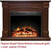 Широкий портал Royal Flame Boston под очаг Jupiter FX New темный дуб