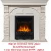 Классический портал для камина Electrolux Torre Classic Белый/Беленый дуб