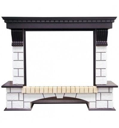 Широкий портал Royal Flame Pierre Luxe под очаги Dioramic 28 FX венге