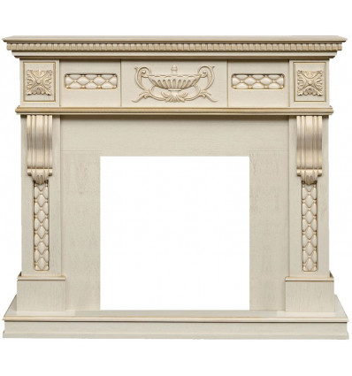 Классический портал для камина Royal Flame Corsica под классический очаг (слоновая кость с патиной)
