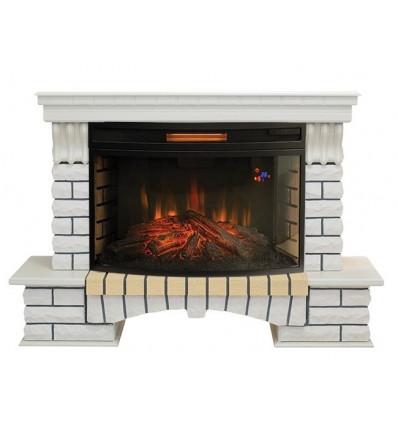 Электрокамин с широким очагом 2D Real-Flame Country 33 WT с очагом Firespace 33 S IR