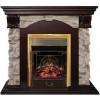 Камин для дома электрический Real-Flame Dublin ROCK STD/EUG 24 AO с очагом Fobos s Lux BL/BR, Majestic s Lux BL/BR