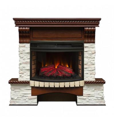 Электрокамин с широким очагом 2D Real-Flame Kingstone 25/25,5 с очагом Firefield 25 S IR