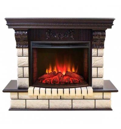 Камин для загородного дома Real-Flame Gracia 25'5/24 AO с очагом Evrika 25,5 LED