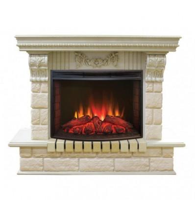 Электрокамин с широким очагом 2D Real-Flame Gracia 25'5/24 WT с очагом Evrika 25,5 LED
