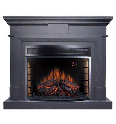Электрокамин с широким очагом 2D Royal Flame Coventry Graphite Grey с очагом Dioramic 28 LED FX