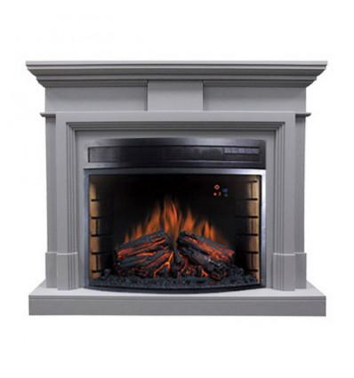 Электрокамин с широким очагом 2D Royal Flame Coventry Grey с очагом Dioramic 28 LED FX