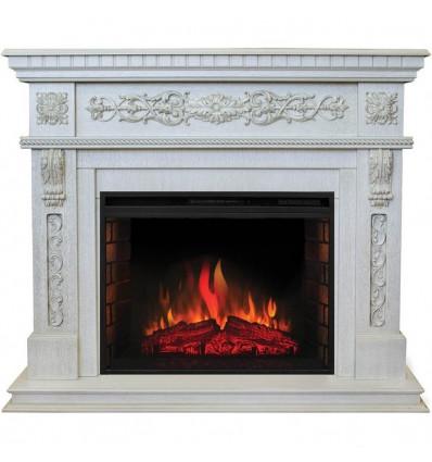 Красивый камин Real-Flame Estella 25,5/26 WT с очагом Epsilon 26 S IR