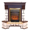 Электрокамин с классическим очагом 2D Real-Flame Stone Corner new STD/EUG AO (DN) с очагами Fobos/Majestic