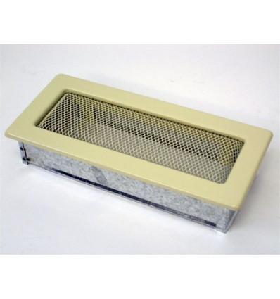 Вентиляционная решетка для камина Kratki 11х24 бежевая 24K