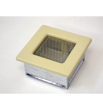 Вентиляционная решетка для камина Kratki 11х11 бежевая 11K