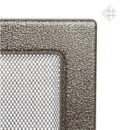 Вентиляционная решетка для камина Kratki 11х17 черная/латунь пористая 117CZ