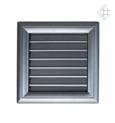 Вентиляционная решетка для камина Kratki Оскар графит с воздушной системой с жалюзи 17х17 17OGAIR