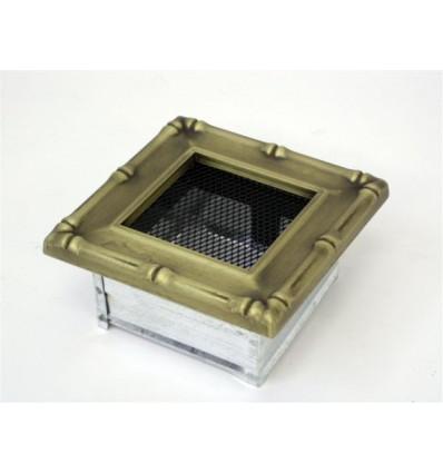 Вентиляционная решетка для камина Kratki 11х11 Диана латунь 11DZ