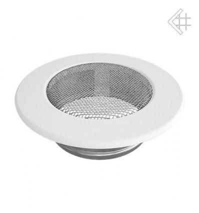 Вентиляционная решетка для камина Kratki КРУГЛАЯ белая д.100 FI/100B