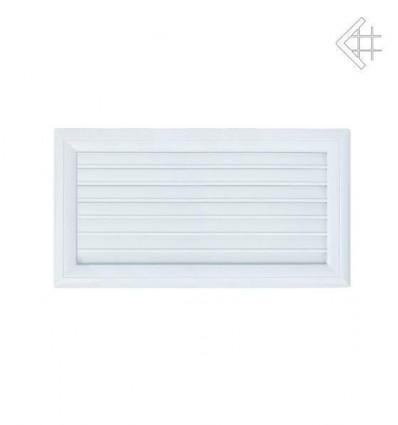 Вентиляционная решетка для камина Kratki Оскар белая с воздушной системой с жалюзи 17х30 30OBAIR