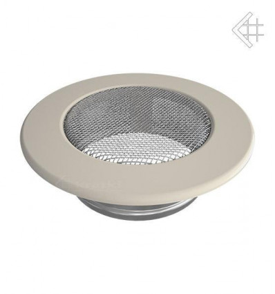 Вентиляционная решетка для камина Kratki КРУГЛАЯ бежевая д.100 FI/100K
