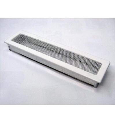 Вентиляционная решетка для камина Kratki 11х42 белая 42B